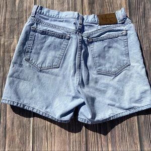 Vintage Calvin Klein Light Wash High Waist Shorts